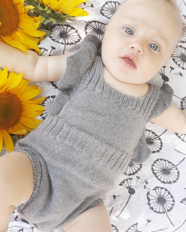 Baby romper with frill detail