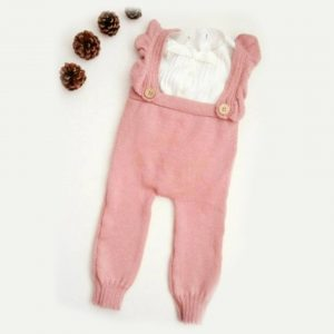 Knitted Baby Leggings with Frill