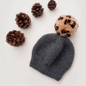 Leopard bobble hat