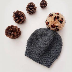 Leopard bobble hat