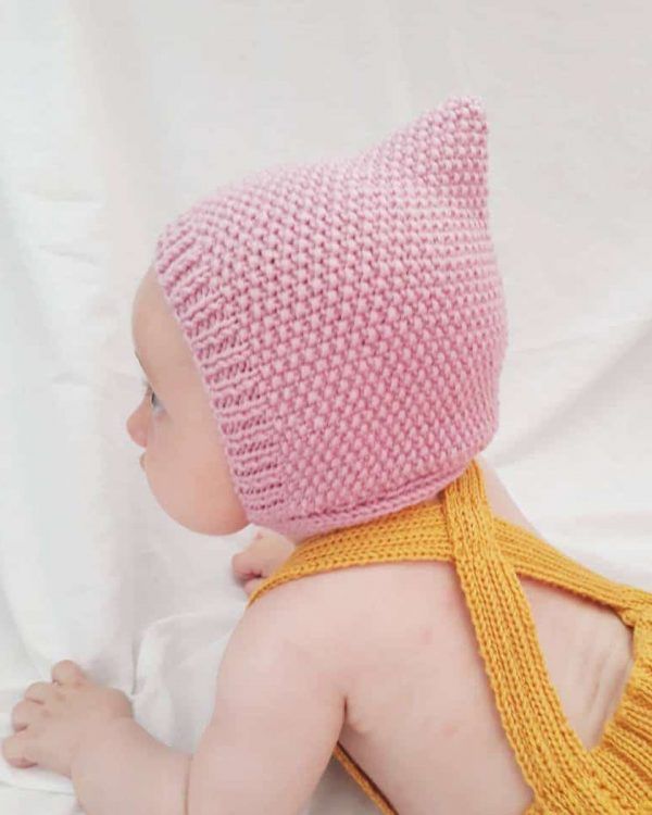 Knitted pixie hat