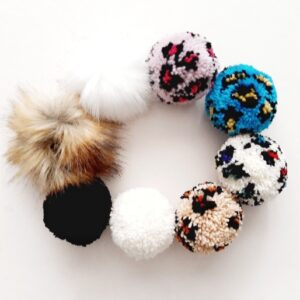 Beanie hat  with pompom – for little ones and big ones